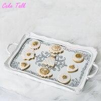 Wedding cake tray glass cake stand dessert plate candy bar decoration cake tool Baby birthday