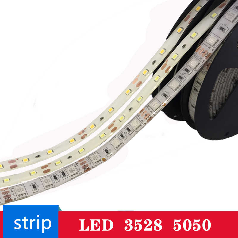 LED Strip 3528 5050 DC12V 60LEDs/m Flexible LED Light RGB LED Light Strip Waterproof 5M 300Leds Home Decoration Led Tape