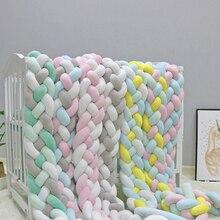 Bed-Protector Crib Bumper Baby Kids Room-Decor Comfortable Newborn Soft Weaving Plush-Knot