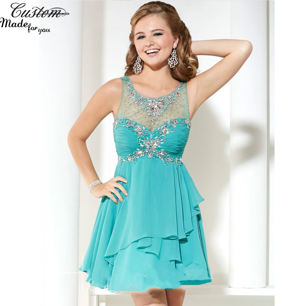 Masquerade Prom Dresses in Tiffany Blue
