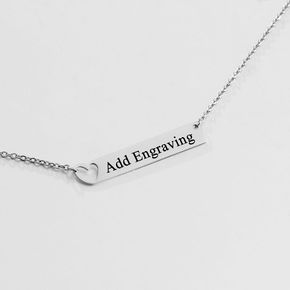 pin com necklace thejewelleryboutique chains message engraved