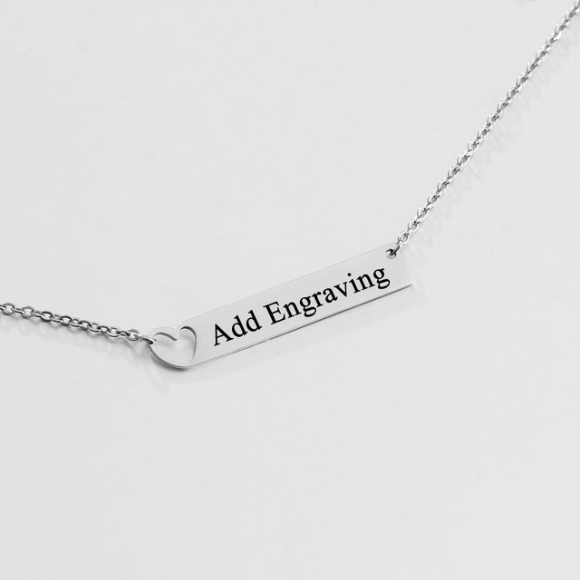 Personalized Name Bar Necklaces For Women Custom Engraved Promise Name  Chains Necklace Stainless Steel Necklaces   Pendants c38a575665