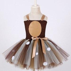 Image 2 - Bé gái Tuần Lộc Phối Trang Phục Bé Cổ Tròn Hoa Văn Chắc Chắn Đầm Giáng Sinh Sinh Nhật Trẻ Em Áo Váy cho Bé Gái Bầu