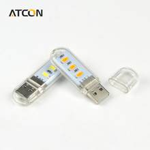 1Pcs New Mini USB LED lamp Book lights 3 LEDs 5730 SMD 1.5w Camping Bulb Nightlight For PC Laptops Notebook Reading Night light(China (Mainland))