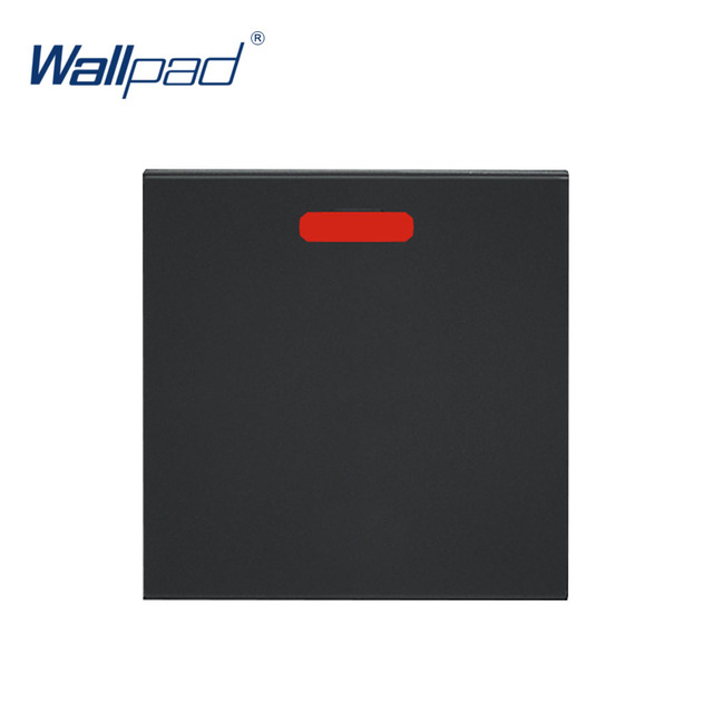 Wallpad Luxury 20A Water Heater Switch Function Key For Wall Push Button Switch White And Black Plastic Module Only