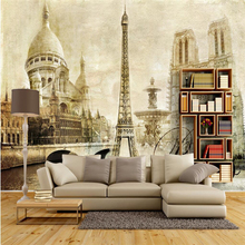 Beibehang wallpaper retro nostalgia Europe type 3 d photo wall paper murals bedroom TV wall in the sitting room 3 d wallpaper