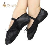 NOWE Darmowe Zakupy Prawdziwej Skóry Powierzchni Netto Balet Taniec Buty dla Dziewczyny/kobiety Baletki T-1114
