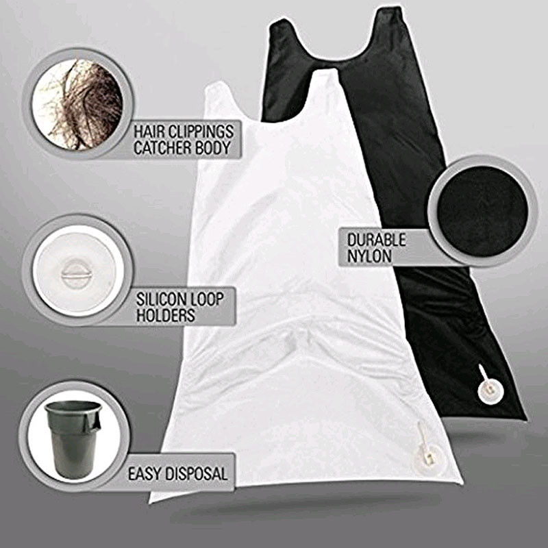 Image 4 - 120x77cm Man Bathroom Apron Beard Apron Hair Shave Apron for Man Men's Facial Bear Barbe Waterproof Polyester Household Cleaning-in Hair Trimmers from Home Appliances