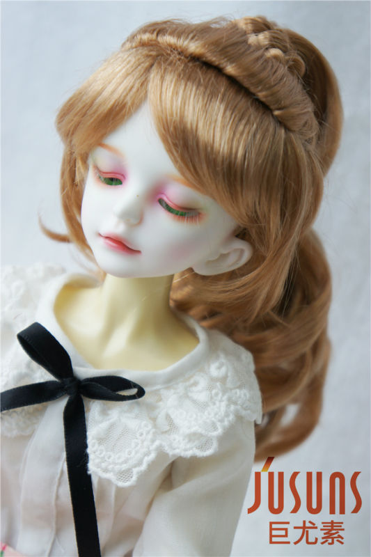 JD218 1/4 MSD synthetic mohair doll wigs Complex braid wig 7-8 inch BJD doll accessories 8 9 bjd wig silver knights of england volume mohair wig spot