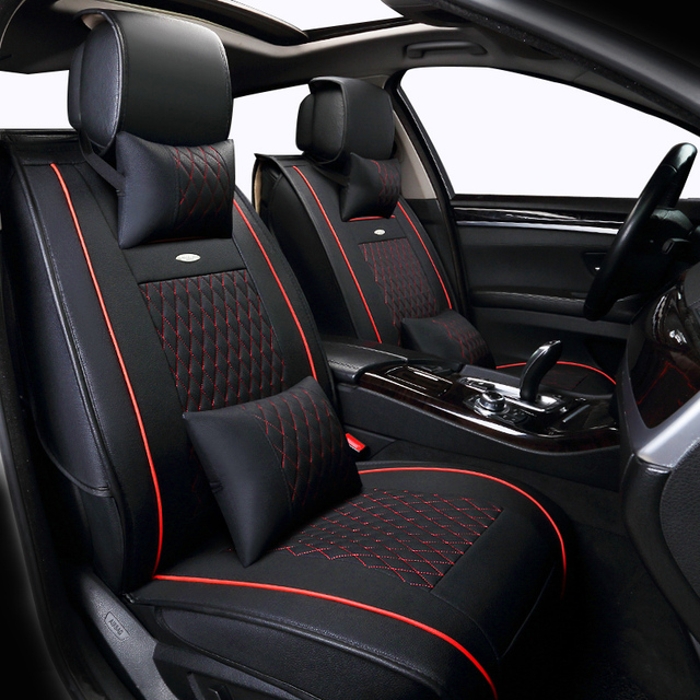 Seat Covers Supports Leather Auto Universal Sport Car Cover Set Fit Most Cushion