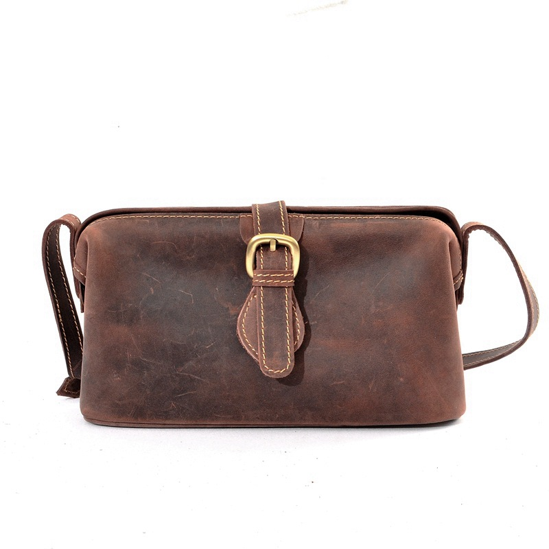 YISHEN Vintage Crazy Horse Genuine Leather Women Crossbody Bags Handmade Casual Female Shoulder Bags Messenger Bags MSYD003YISHEN Vintage Crazy Horse Genuine Leather Women Crossbody Bags Handmade Casual Female Shoulder Bags Messenger Bags MSYD003