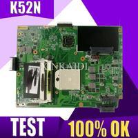 Xinkaidi k52n placa-mãe do portátil para asus k52n k52 x52n a52n teste original mainboard