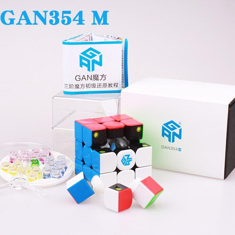 GAN354 M 3x3x3 ímãs cubos gan 354 Magnético gans enigma velocidade cubo mágico profissional cubo magico brinquedos para as crianças ou adultos