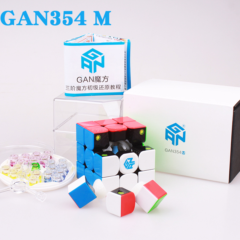 GAN354 M 3x3x3 imanes rompecabezas cubo mágico gans de velocidad profesional cubitos gan 354 magnético cubo magico juguetes para niños o adultos