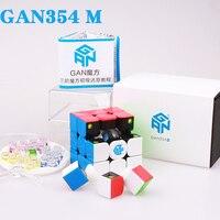 GAN354 M 3x3x3 mıknatıslar bulmaca sihirli küp profesyonel hız gans küpleri gan 354 Manyetik cubo magico oyuncaklar çocuklar veya yetişkinler için