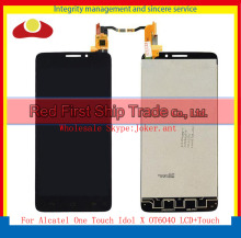 "5,0 ""für alcatel one touch idol x ot6040 6040 6040d 6040e 6040a lcd display touchscreen digitizer assembly komplette sensor"