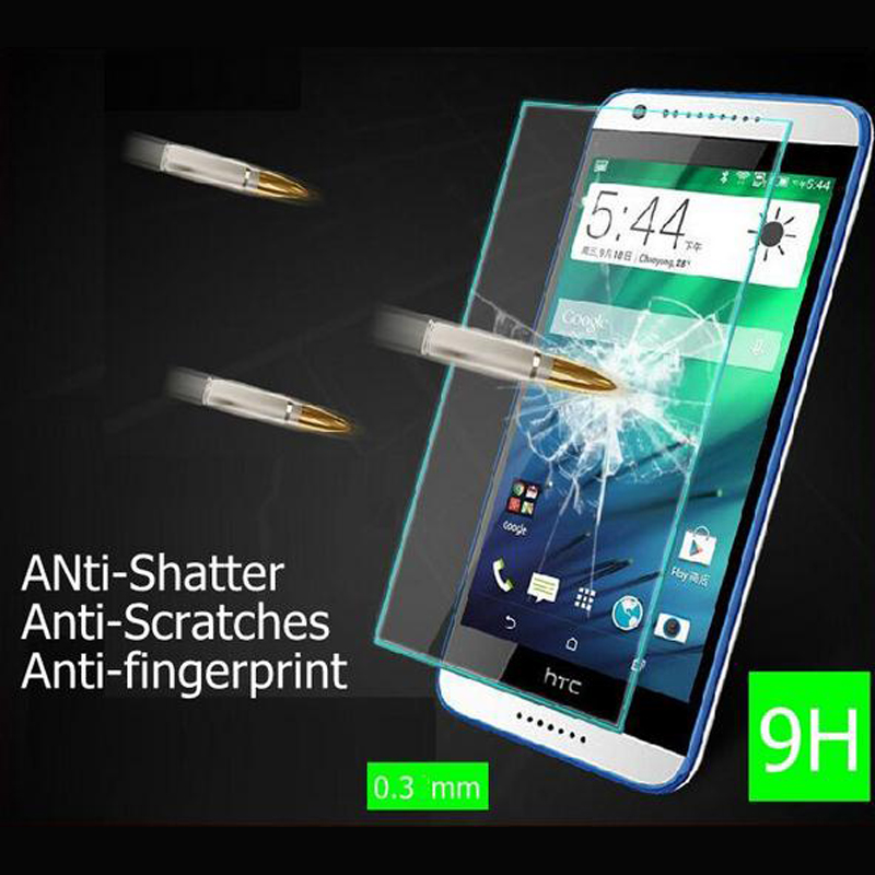 0.26mm Quality Premium Tempered Glass For Htc Desire 516 526 816 616 626 820 826 One M8 M9 M7 Mini M4 Eye Screen Protector Case