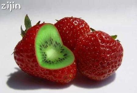 200 piezas raras Tailandia fresa Kiwi bonsái fruta dulce orgánica bonsái de plantas de fruta de jardín perenne