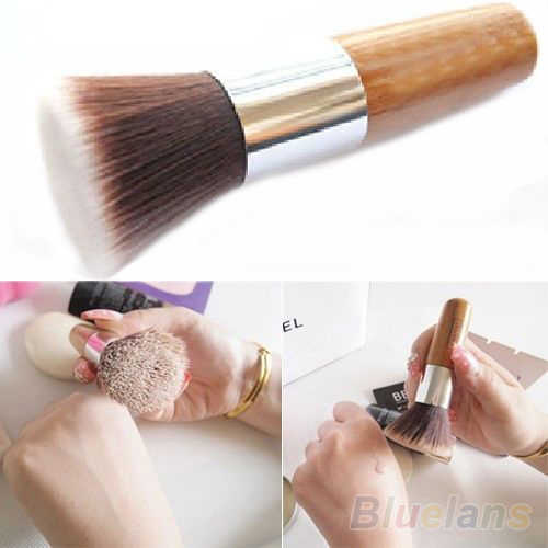 Latest Flat Top Buffer Foundation Powder Brush Cosmetic Makeup Basic Tool Wooden Handle  028M 4CPV 5K9W