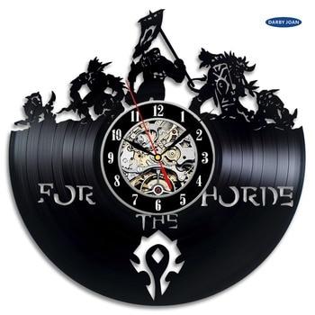 World of Warcraft WOW Gift Vinyl Wall Clock Vintage Decor Demon Illidan Figure,wall clock  saat alarm clock reloj large 1