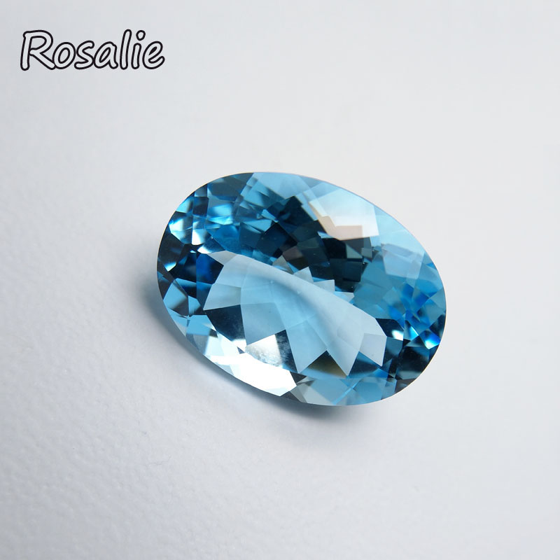 Rosalie,Natural Brazil sky blue topaz oval cu 15x20mm21ct loose real gemstone for silver jewelry special cut DIY jewelry design red carton avr sx460 for generator free shipping