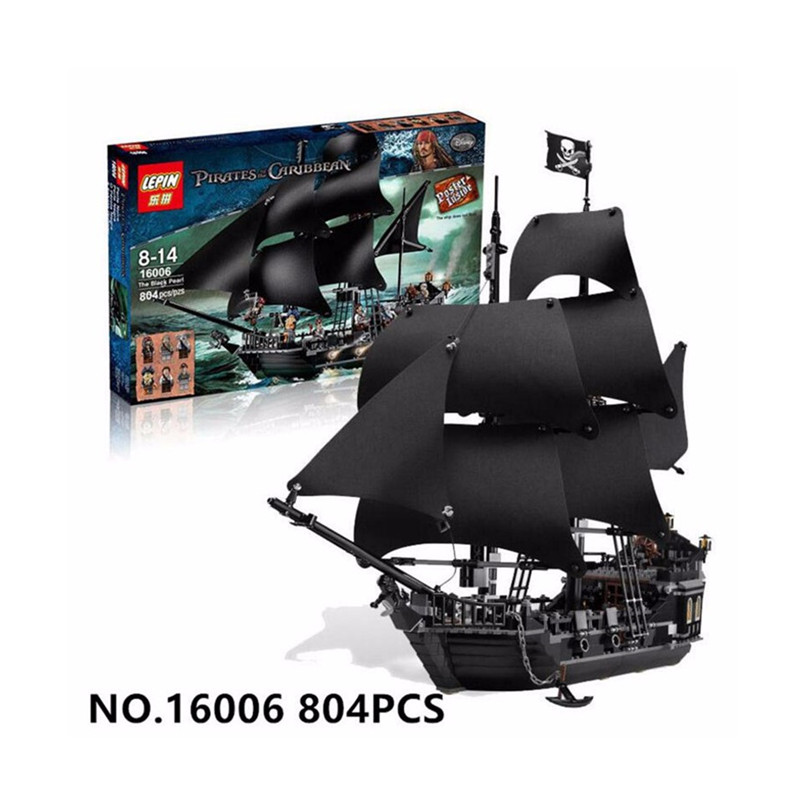 804pcs 4184 The Black Pearl Pirates of the Caribbean Building Blocks Minifigures Compatible with font b