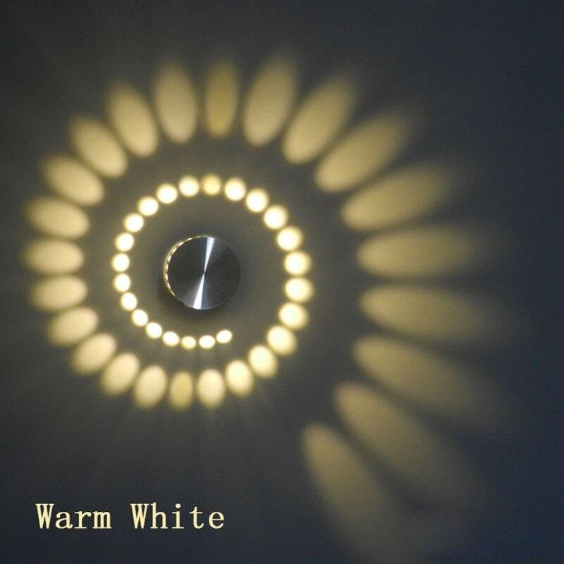 Moderne Led-deckenleuchte 3 W RGB wand Leuchte für Kunst Galerie Dekoration Front Balkon lampe Veranda licht flure Licht leuchte