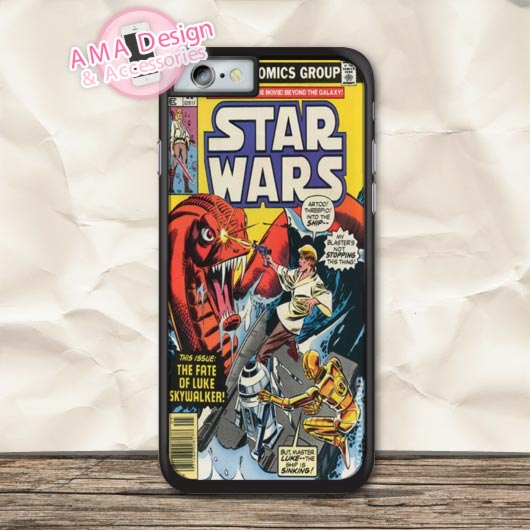 80s Retro Star Wars Comic Cover Protective Case For iPhone X 8 7 6 6s Plus 5 5s SE 5c 4 4s For iPod Touch