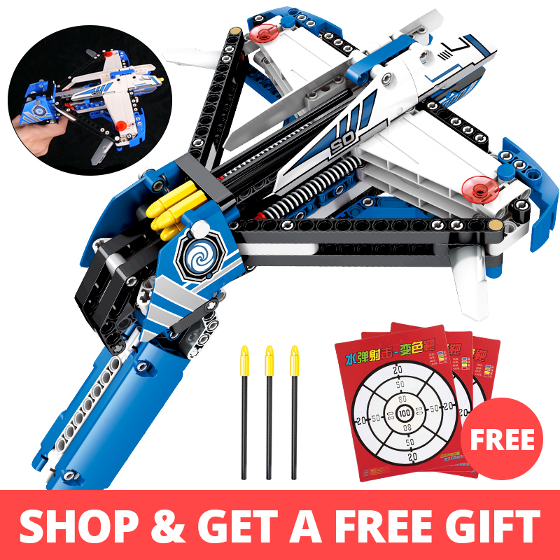 322pcs Crossbow Pistol Building Blocks Compatible legoingly Technic Weapon Gun Bricks Educational Shooting Toys for children boy322pcs Crossbow Pistol Building Blocks Compatible legoingly Technic Weapon Gun Bricks Educational Shooting Toys for children boy
