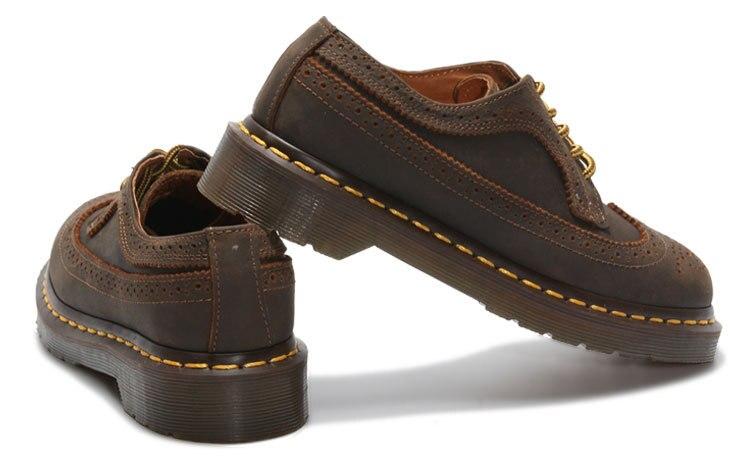 Para Marrón Mujer Ayudar Cuero Zapatos A Británicos Retro Correas Palma Roja De Planos Solos Tallado Aceite Bajo qwa6gzz