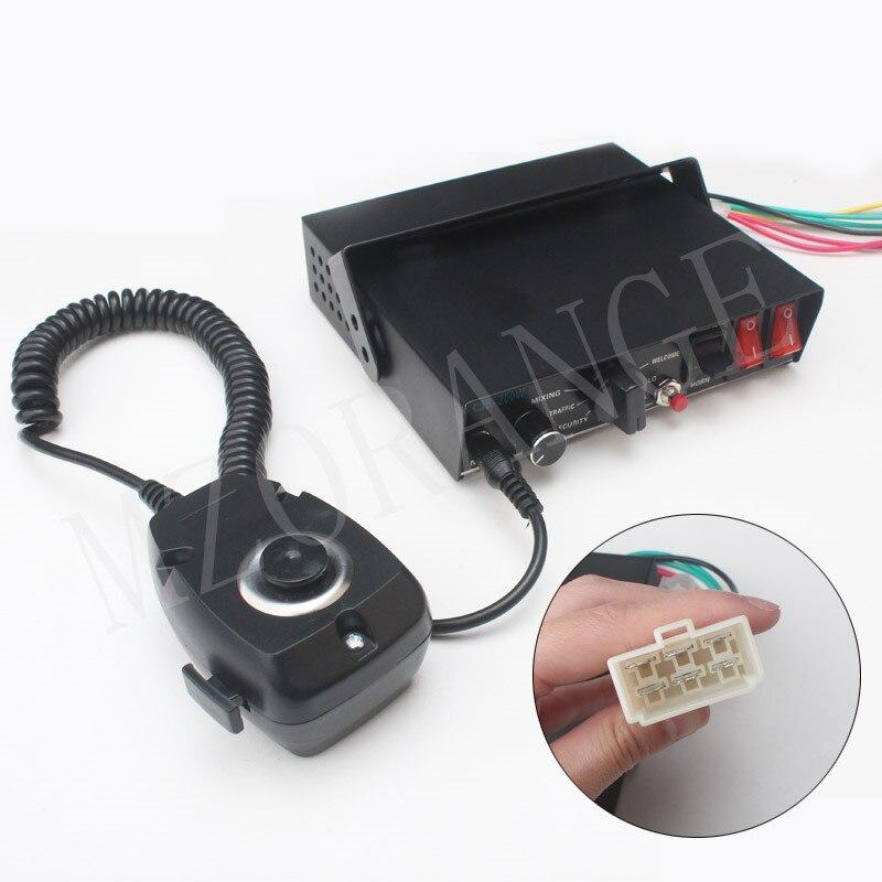 Sirène de Police pour voiture 200 W 12 V sirène klaxon CJB 9 tons avertissement de voiture système d'alarme de Police hôte seulement sans haut-parleur Buzzer électronique