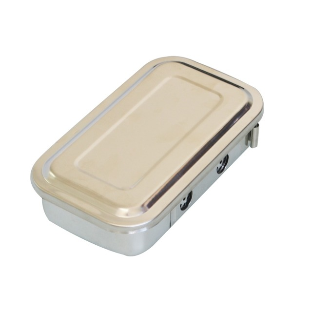 1Pc 8 Inch Dental Nursing Surgical Box Stailess Steel Container With Hole At High Temperature And High Pressure Sterilizing Box