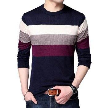 5b57c09075bc6 Новый модный брендовый свитер мужской s пуловер Мужской пуловер Джемперы  вязаный шерстяной осенний корейский стиль повседневная мужская о.
