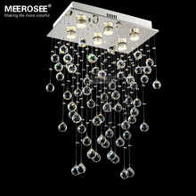 цена Luxurious K9 Crystal Chandelier light fixture Modern Clear Crystal lamparas de cristal for foyer Hotel Restaurant fast shipping онлайн в 2017 году