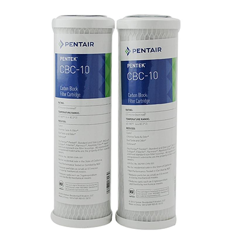 """Cartucho de filtro de agua para bloque de carbón activado de 10 """"x 2.5"""" para purificador de agua CBC-10"""