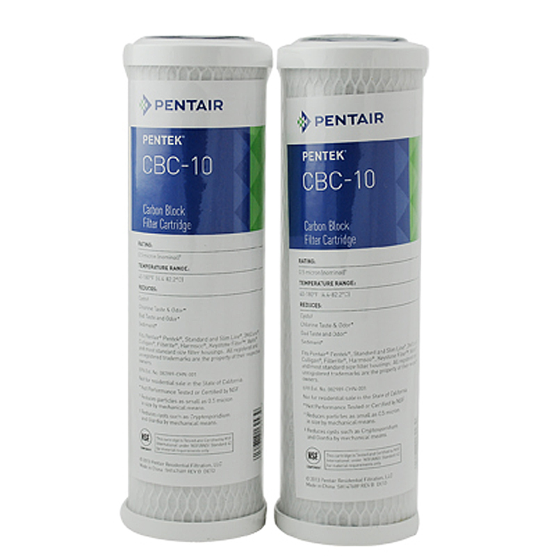 CA Ware Pack of Two 10 /× 2/½ 1 Micron Carbon Block Filter Cartridge with Lead Removal