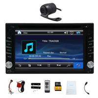 6 2 Double 2DIN Car DVD CD Player Bluetooth Touch Screen Stereo Radio HD Camera