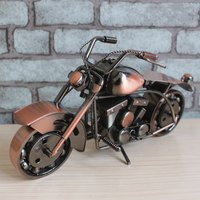 Heavy Motorcycle Retro Iron Art Awesome Motorcycle Sculpture Decoration Craft 27x8x14cm Vintage Moto Ornament For Home & Bar