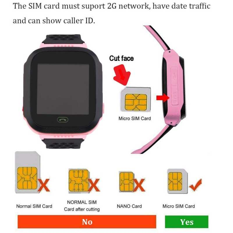 Children GPS Tracker Smart Watch With Flashlight and Camera SIM Calls Anti-lost SOS Locate Kid Safe Smartwatch for iOS Android