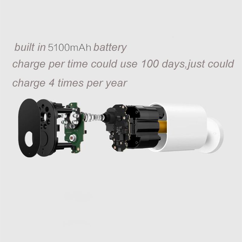 Original Xiaomi Mijia Smart Camera Battery Gateway CMSXJ11A 1080P 120 Degree F2.6 AI Humanoid Detection IP Wireless Cameras Cam-in Smart Remote Control from Consumer Electronics    3