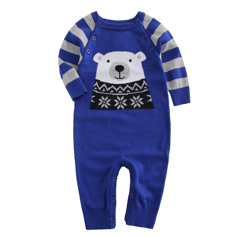 High Quality Newborn Baby Clothes Set Animal Pattern Baby Boys Girl Romper 100% Cotton Knit Infant Baby Rompers Jumpsuits DQ2861 newborn baby girl rompers cute cartoon animal print clothes cotton long sleeve clothing set infant costumes baby boys clothes