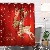 New Eco Friendly Custom Unique Christmas Gifts Fabric Modern Shower Curtain Bathroom Waterproof For Yourself H0220