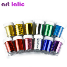 12 Pcs Nail Art Transfer Foil Sticker Paper DIY Beauty Polish Design Stylish Nail Decoration Tools Random Color