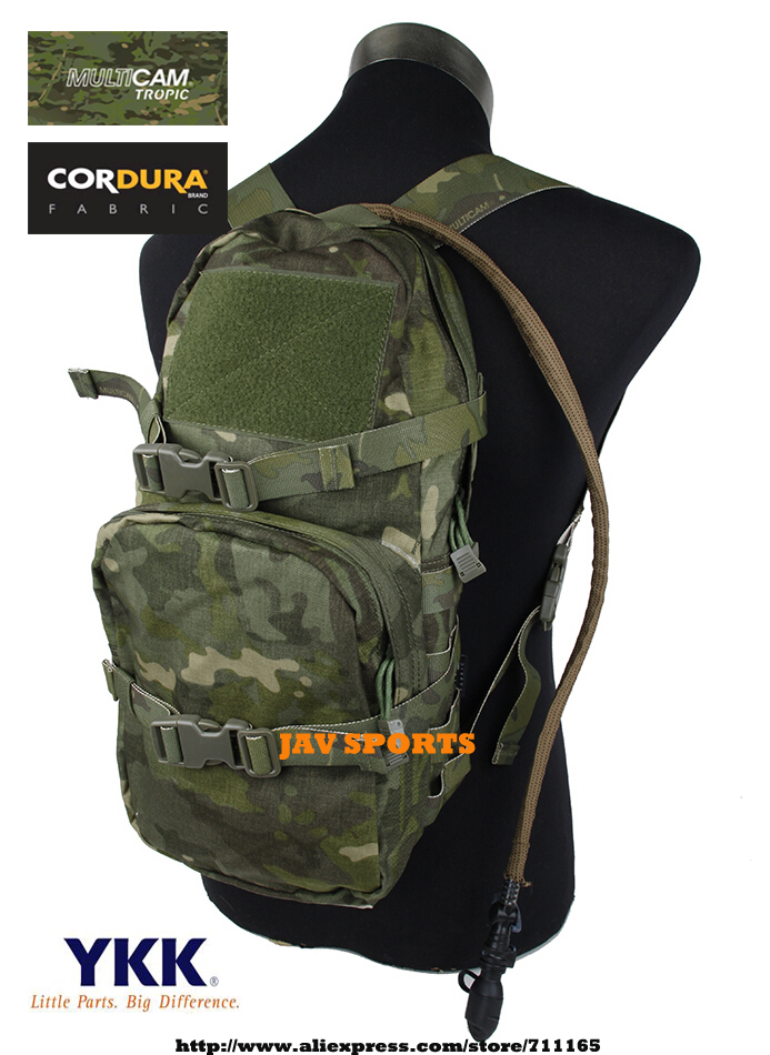 TMC Modular Assault Camouflage MOLLE Hydration Pack Military Hydration Bag 3L Multicam Tropic+Free shipping(SKU12050776)