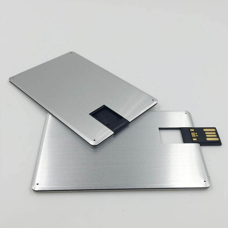 Customized metal credit card usb flash drive DIY Logo Business ...