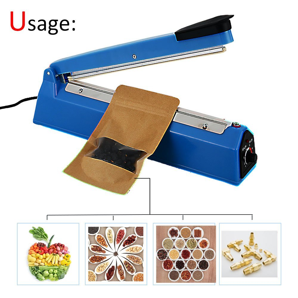 Купить с кэшбэком 30CM Portable Heat Sealing Machine Food Bag Package Sealer Capper Sealing Tool Bag Clips Household Multifunction Kitchen Tool
