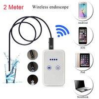 Gakaki 2 M Kablosuz Wifi Endoskop Kablosuz Kamera Araba-dedektörü Muayene Borescope Yılan Tüp Su Geçirmez iphone Android