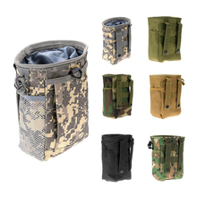 Outdoor Tactic Military Storage Pack Drawstring Bag Waterproof Nylon Hunting Hiking Camping Attached to Molle Vest Backpack Belt