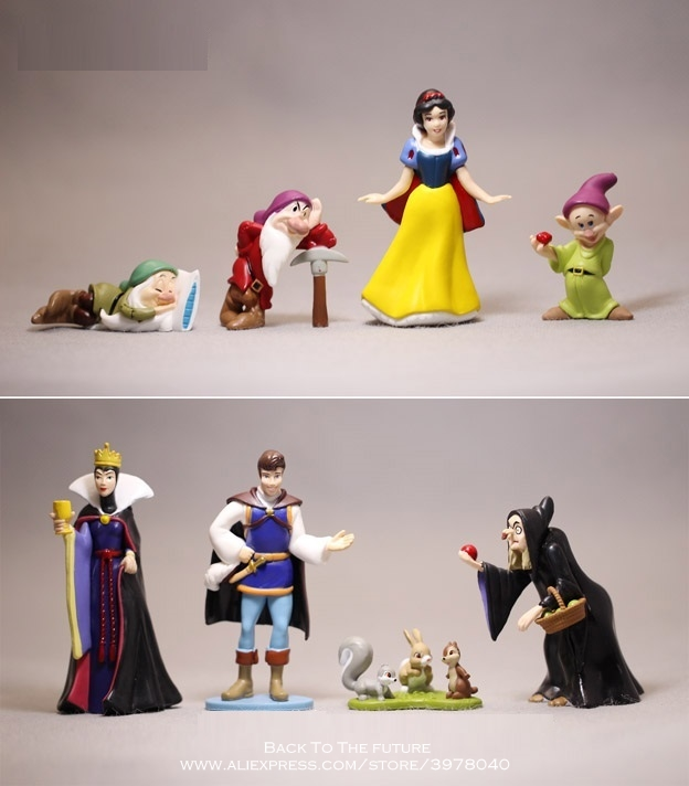 Disney Snow White and the prince 8pcs/set Action Figure Model Anime Mini Decoration PVC Collection Figurine Toys model gift 8pcs set high quality pvc figure toy doll princess snow white snow white and the seven dwarfs queen prince figure toy