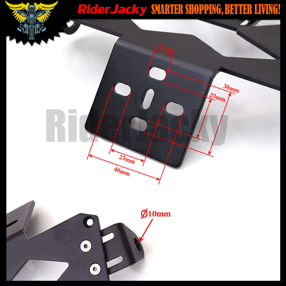 Motorcycle License Plate Bracket Holder Number Plate Hanger Tail Tidy For kawasaki Z1000 Z 1000 All Year 2003-2017 2015 2016